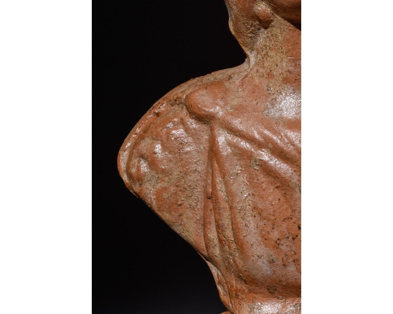 ROMAN TERRACOTTA BUST OF JULIA DOMNA - Image 7 of 8