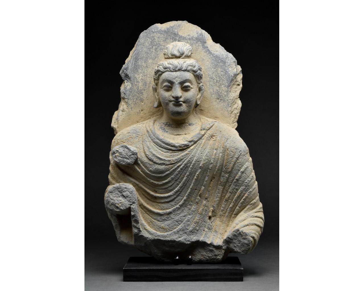 GANDHARA SCHIST TORSO OF BUDDHA
