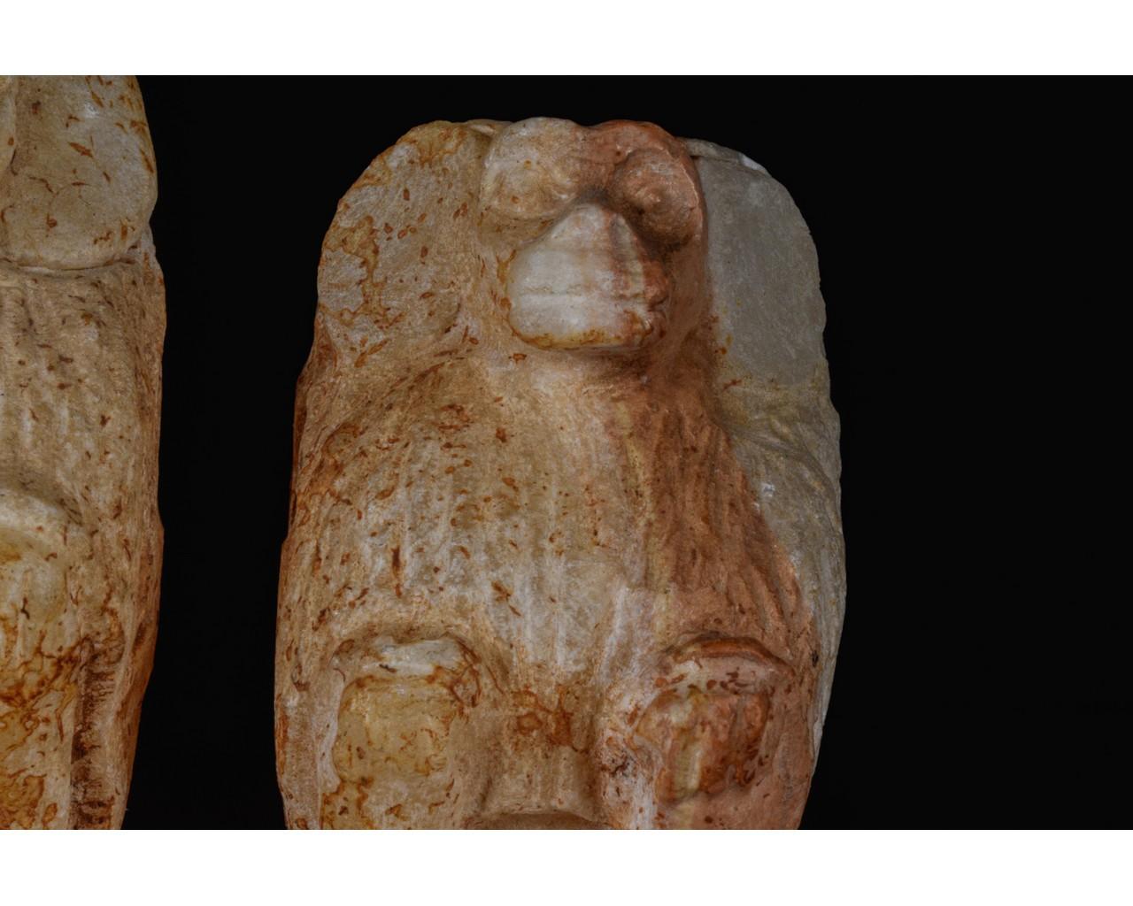 EGYPTIAN SCRIBAL SET OF THREE BABOONS - Image 7 of 7