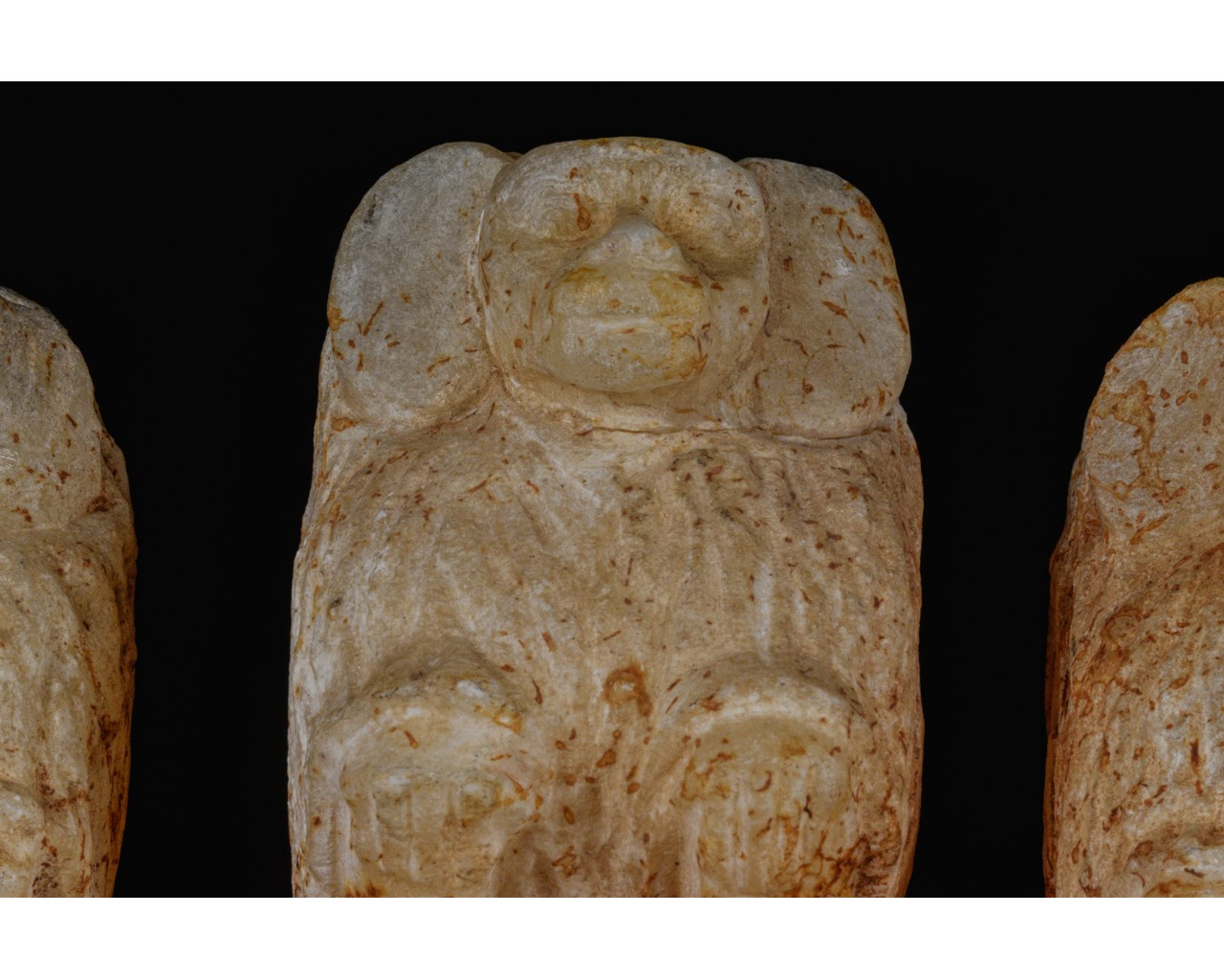 EGYPTIAN SCRIBAL SET OF THREE BABOONS - Image 6 of 7