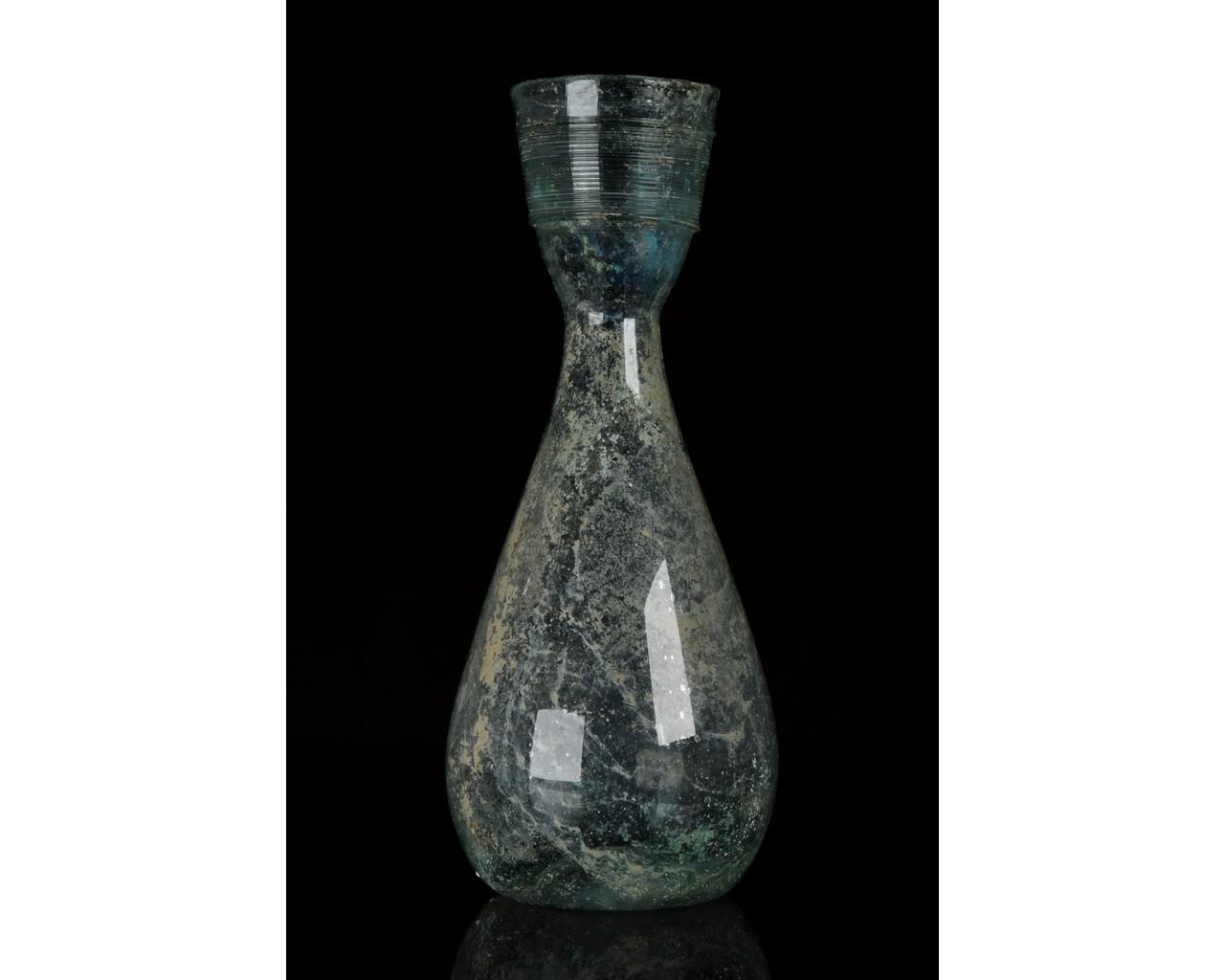 ROMAN GLASS FUNNEL FLASK