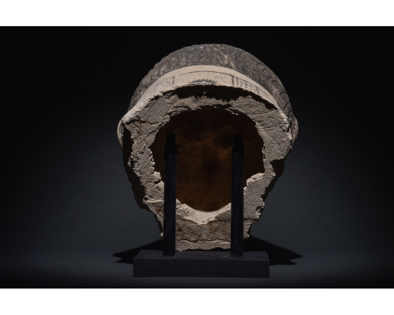 EGYPTIAN GRECO-ROMAN CERAMIC FACE - Image 4 of 9