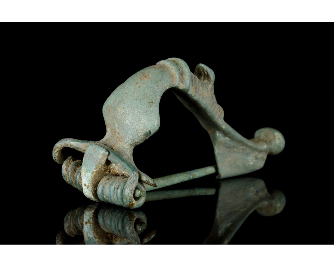 ROMAN TRUMPET HEADED BOW BROOCH WITH DUCK - Image 3 of 7