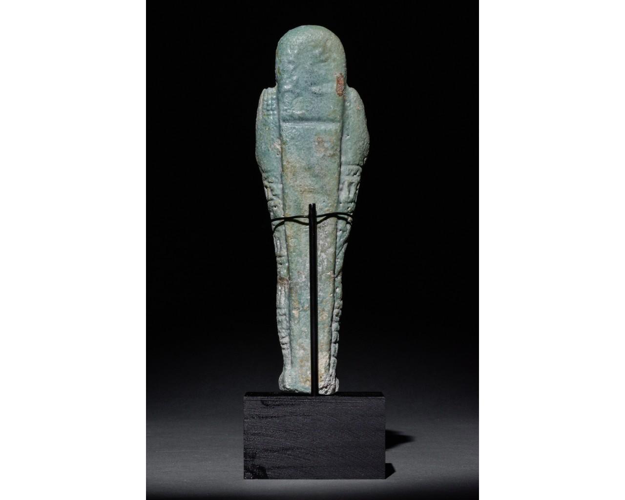 EGYPTIAN FAIENCE SHABTI - Image 3 of 5