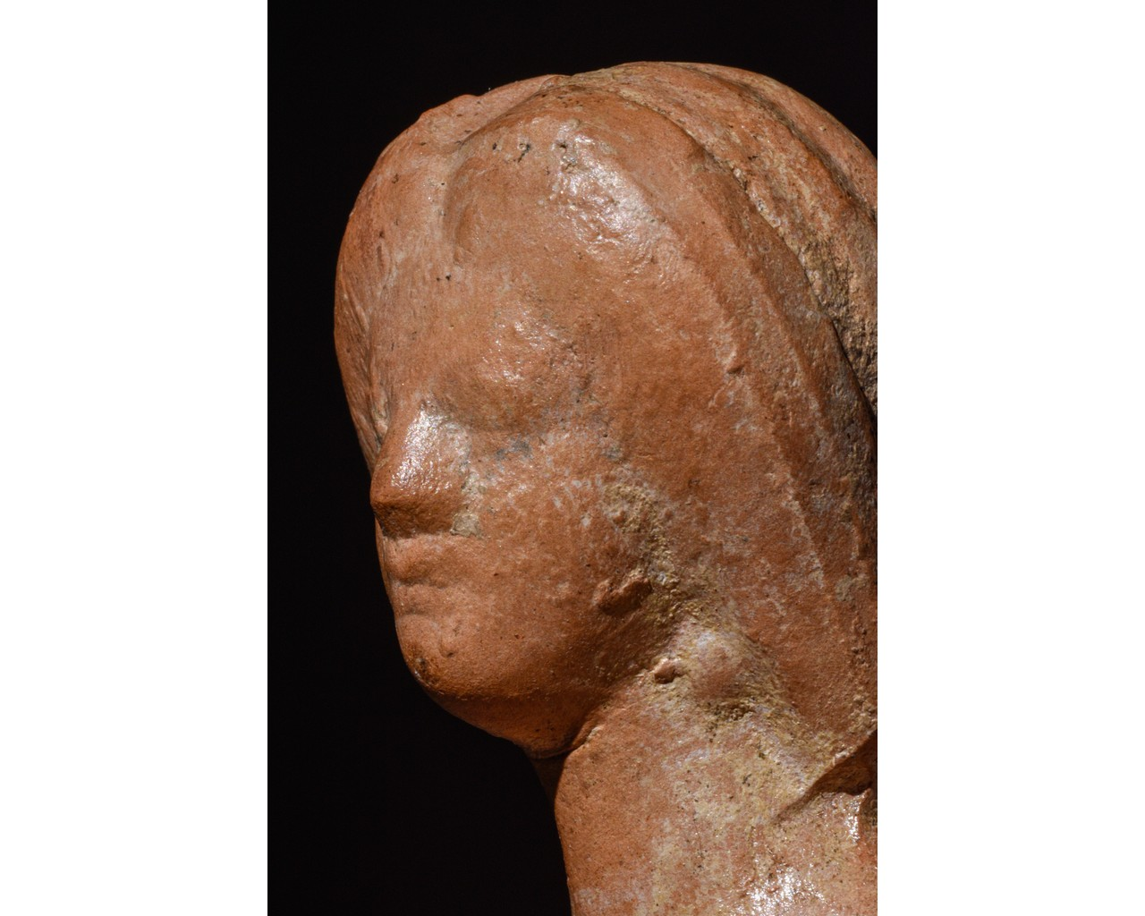 ROMAN TERRACOTTA BUST OF JULIA DOMNA - Image 6 of 8