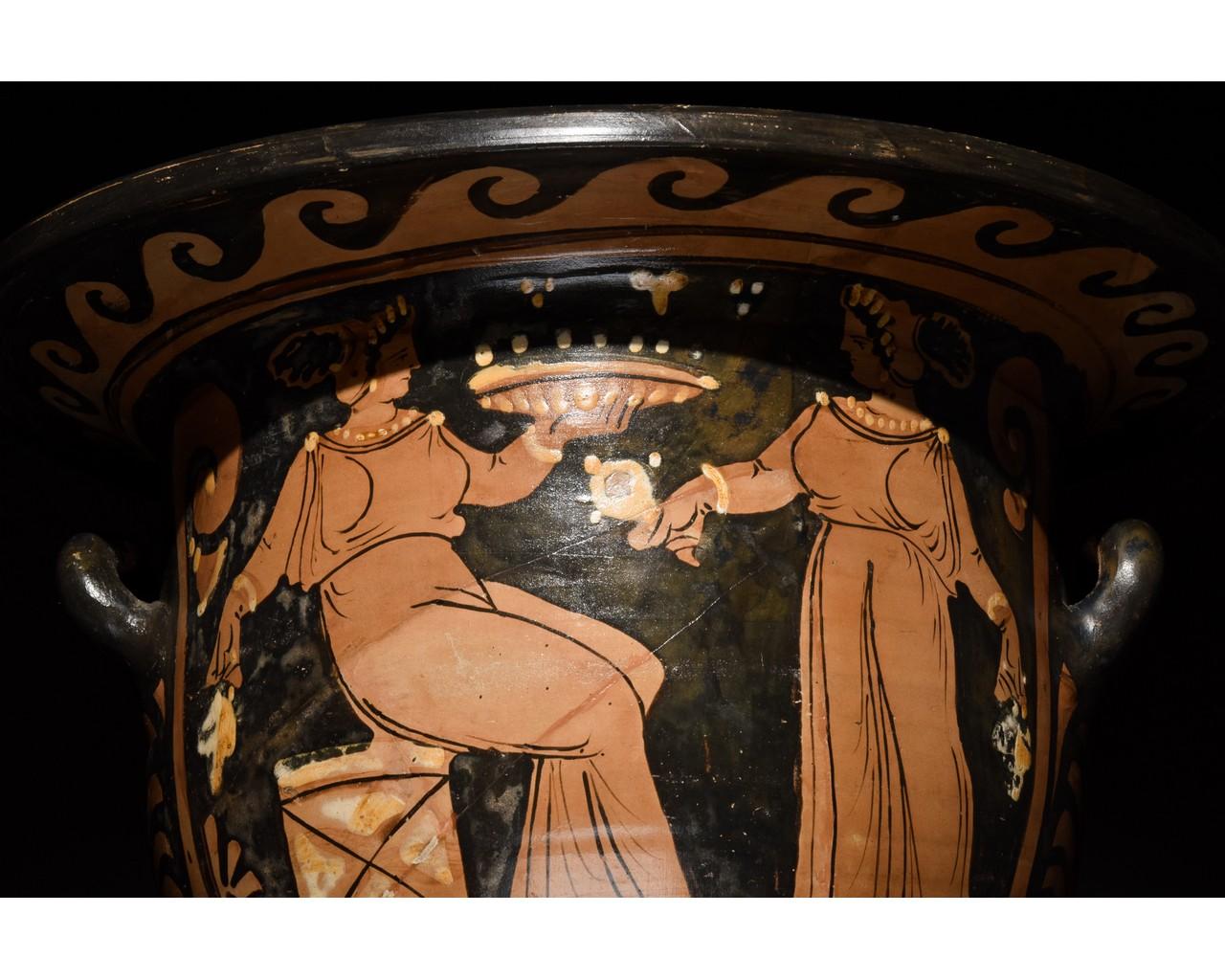 LARGE GREEK APULIAN BELL KRATER - TL TESTED - Image 10 of 15