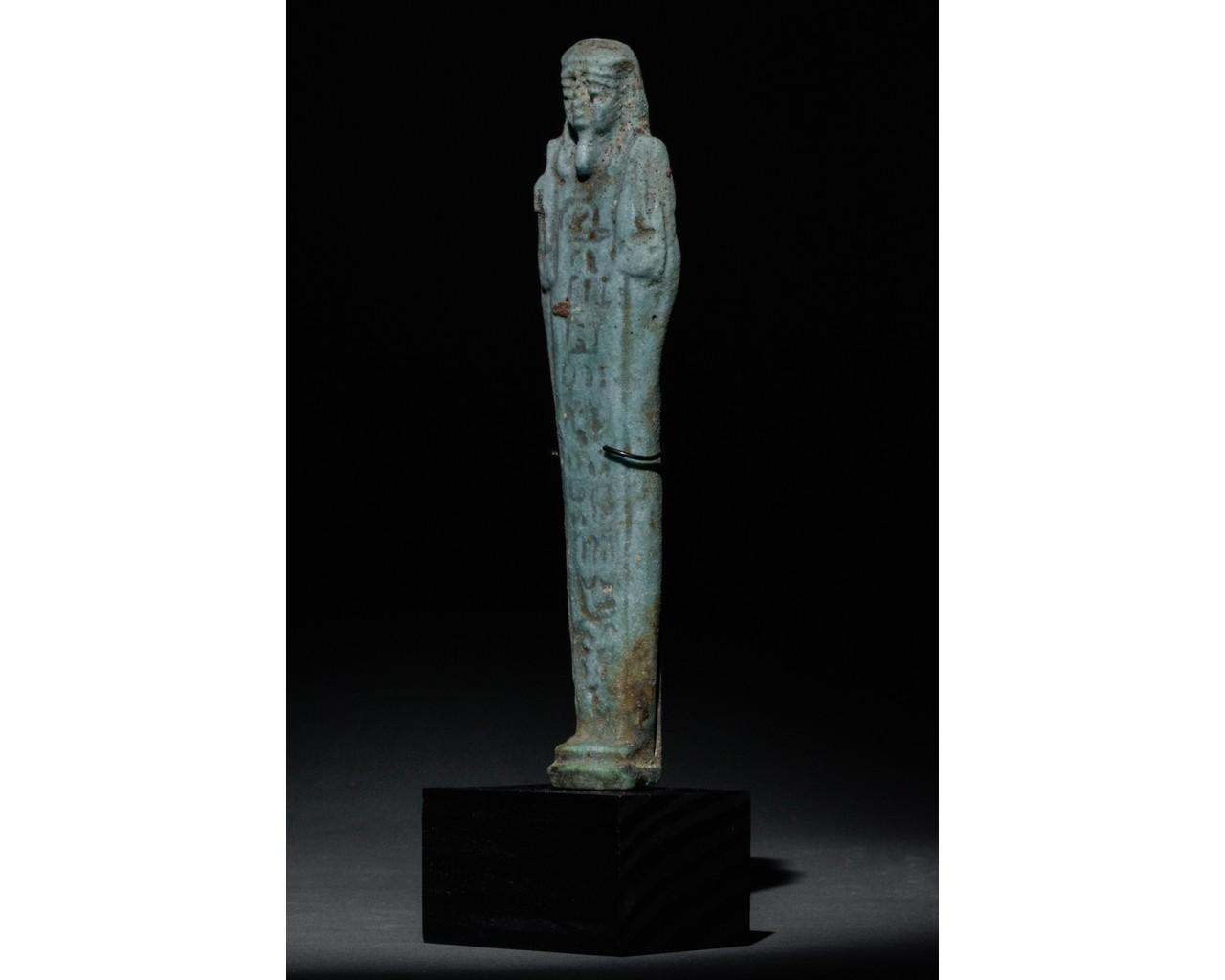 EGYPTIAN FAIENCE SHABTI - Image 2 of 5