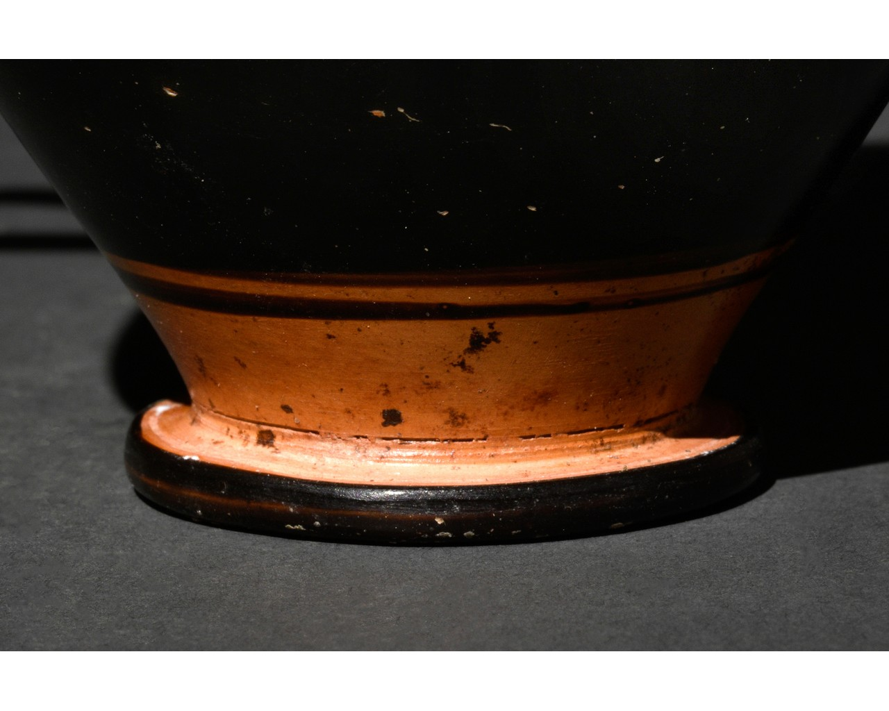 GREEK APULIAN BLACK-GLAZED POTTERY SKYPHOS - Image 6 of 6