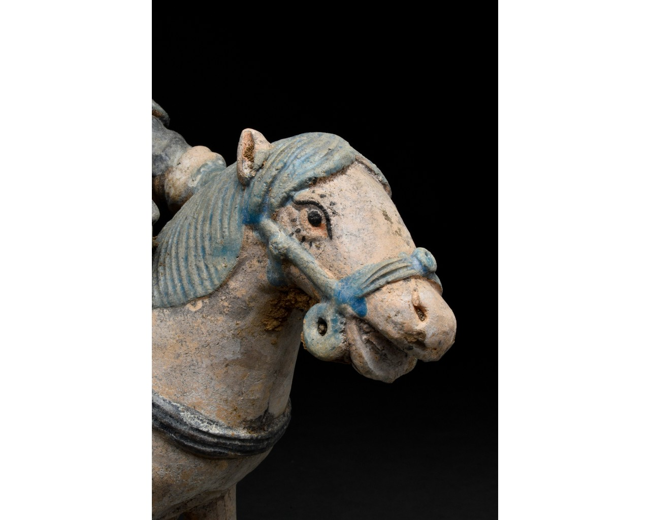 CHINESE MING DYNASTY HORSE AND RIDER FIGURE - Image 5 of 5