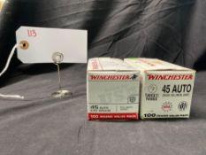 WINCHESTER 45 ACP, 100 ROUND PACK (X2)