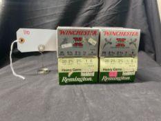 REMINGTON & WINCHESTER 20 GA, #6 SHOT (X4)