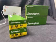 REMINGTON 222 REM MAG (X4)