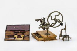 Konvolut von drei Uhrmacherwerkzeugen