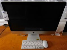 """Apple iMac 27"""" 3.06 GHz Core 2 Duo, with Mouse & Keyboard, Serial Number: W894532T5PM (Located"""