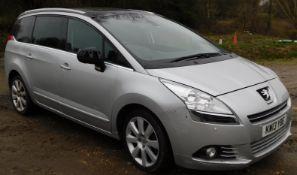 Peugeot 5008 Estate, 2.0 HDi 150 Allure, Registration KW13 YBE, First Registered 27th June 2013, MOT