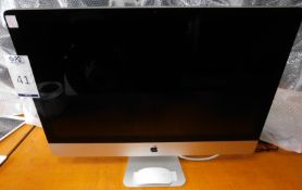 Apple iMac 27inch 2.7Ghz, Core i5, Model Number: A1312, Serial Number: C02FF6VRDHJP (Located