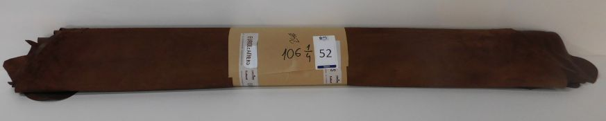 Euroleathers Brown Noble Leather (106.25 sq ft) (Located Brentwood – See General Notes)