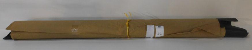 Dafar Black Matt Box Calf Leather (12.07sq m) Grade 2 (Located Brentwood – See General Notes)