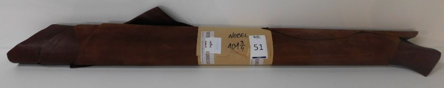 Euroleathers Brown Noble Leather (101.75 sq ft) (Located Brentwood – See General Notes)