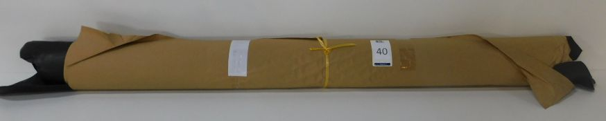Dafar Black Matt Box Calf Leather (12.12sq m) Grade 2 (Located Brentwood – See General Notes)