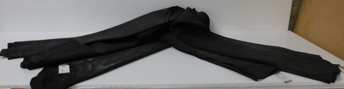 BCS Black Vanoise Waxy Suede Leather (95 sq ft) (Located Brentwood – See General Notes)