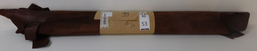Euroleathers Brown Noble Leather (99 sq ft) (Located Brentwood – See General Notes)