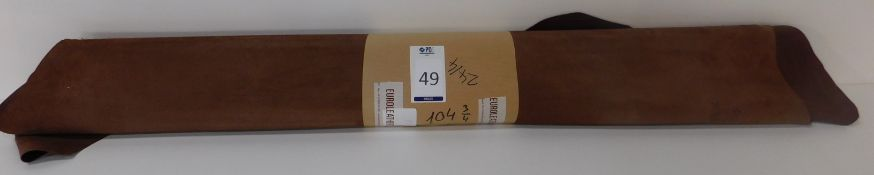 Euroleathers Brown Noble Leather (104.75 sq ft) (Located Brentwood – See General Notes)