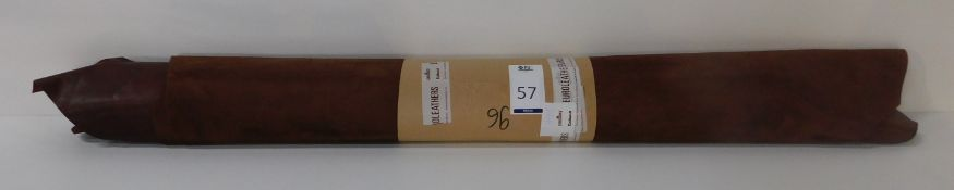 Euroleathers Brown Noble Leather (96 sq ft) (Located Brentwood – See General Notes)