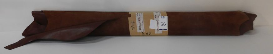 Euroleathers Brown Noble Leather (98.75 sq ft) (Located Brentwood – See General Notes)