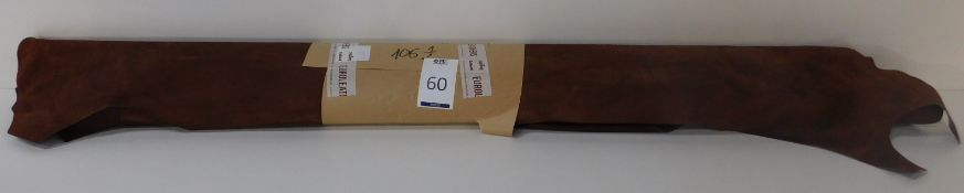 Euroleathers Brown Noble Leather (106.5 sq ft) (Located Brentwood – See General Notes)