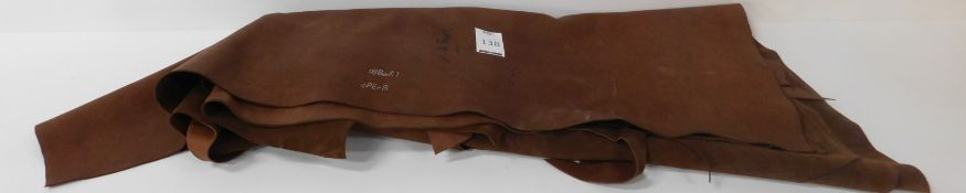 Euroleather Ox Reverse Opera Sigaro Leather (6.45sq m) Grade 1 (Located Brentwood – See General