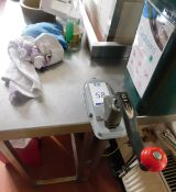 EZ-3 Can opener on Bespoke Small Preparation Table (Location Bloomsbury - See General Notes for More