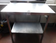 Stainless Steel Preparation Table (Location Bloomsbury - See General Notes for More Details)