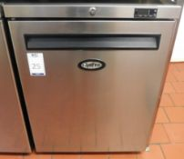 Foster HR150-A Stainless Steel Undercounter Refrigerator, Serial Number E5312427 (Location