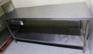 Stainless Steel Preparation Table Fitted Single Drawer (Location Bloomsbury - See General Notes