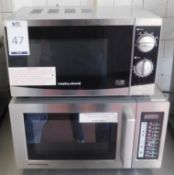 Morphy Richards Commercial Microwave & a Menumaster Ditto (Location Bloomsbury - See General Notes