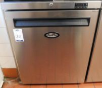 Foster LR150-A Stainless Steel Undercounter Freezer, Serial Number E5312428 (Location Bloomsbury -