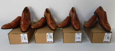 4 Pairs of Peal & Co 100029132 tan CAP, Sizes 7.5, 8, 13 & 13 (Slight Seconds) (Location Brentwood -