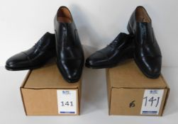 Lloyd Footwear Black Oxford Size 7 & Lloyd Footwear Leeds Black CAP Size 6 (Slight Seconds) (
