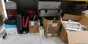 Extension Leads, Blades, 5-Stave Step Ladder, Office Equipment & Wall Lights (Location: