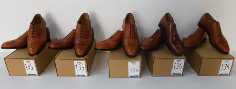 5 Pairs of Peal & Co 100029132 tan CAP, Sizes 8.5, 8.5, 9, 9.5 & 10 (Slight Seconds) (Location