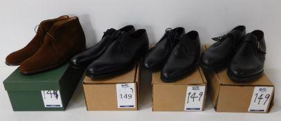 The Cobbler Notting Hill Black Gibson Size 7, Sid Mashburn Black Plain Front Gibson Size 11.5,