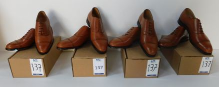 4 Pairs of Peal & Co Tan CAP Oxford, Sizes 7.5, 11, 12 & 12 (Slight Seconds) (Location Brentwood -
