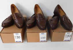 3 Pairs of Alfred Sargent 7151 Brown Loafer, Size 7.5 (Slight Seconds) (Location: Brentwood - See