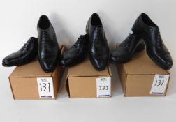 Alfred Sargent Hut Black Brogue Size 7, Alfred Sargent Edgar Black CAP Size 7 & Alfred Sargent Black