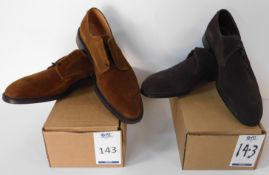 2 Pairs of Sid Mashburn Brown Suede Size 11.5 (Slight Seconds) (Location Brentwood - See General