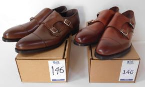 2 Pairs of Sid Mashburn Double Buckle Monk CAP, Sizes 11.5 & 12 (Slight Seconds) (Location Brentwood