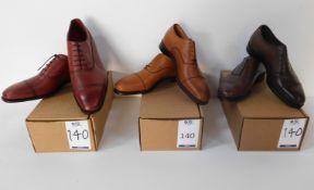 Lloyd Footwear Tan CAP Oxford Size 7.5, Alfred Sargent Espresso CAP Size 6.5 & Ducker & Son