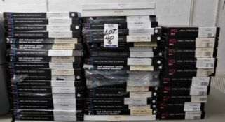25 Part & Full Boxes of Labels (Location: Hatfield - See General Notes for More Details)