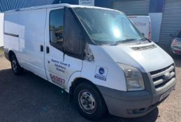 Ford Transit 300 MWB FWD Low Roof Van TDCi 110ps, Registration HN08 YPV, First Registered 4th June